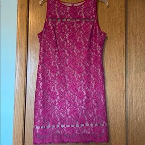 Gorgeous pink Adrianna Papell dress